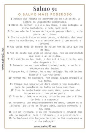 Salmo 91 para imprimir em folha a4