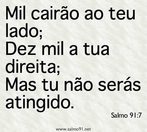 versículo do salmo 91:7