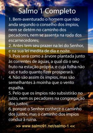 Salmo 1 Completo LEIA AQUI, Imagens, Vídeo Cid Moreira