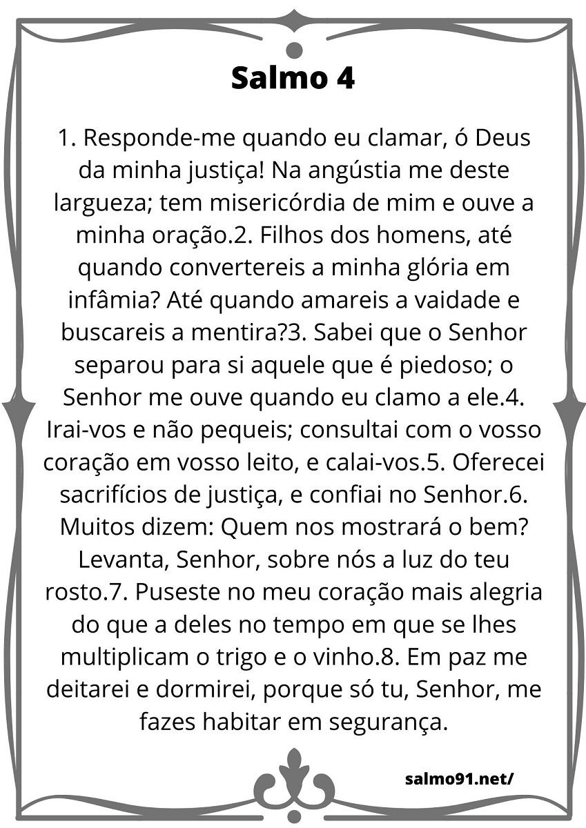 salmo 4 para imprimir confiança em deus